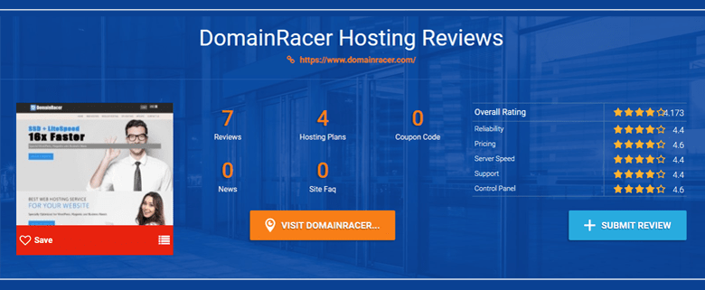 customer rating domainracer ssd reseller hosting