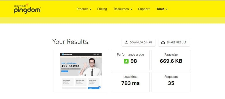 domainracer high performance page loading