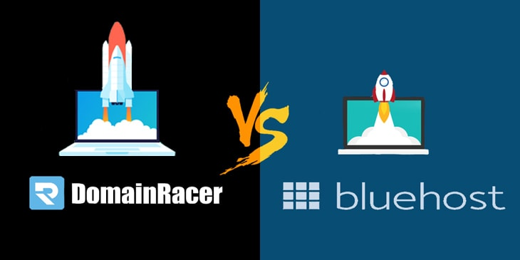 domainracer vs bluehost india review
