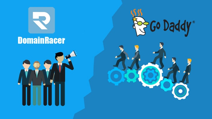 domainracer vs godaddy web hosting provider 2018