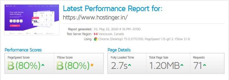 hostinger performance